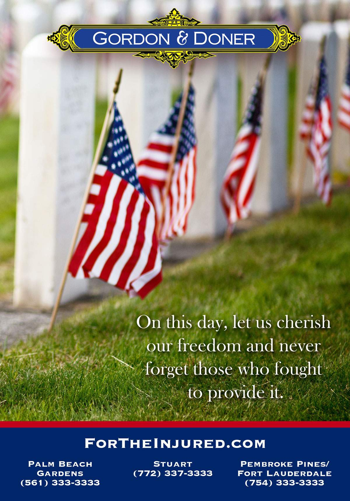 Gordon Doner Memorial Day E-blast