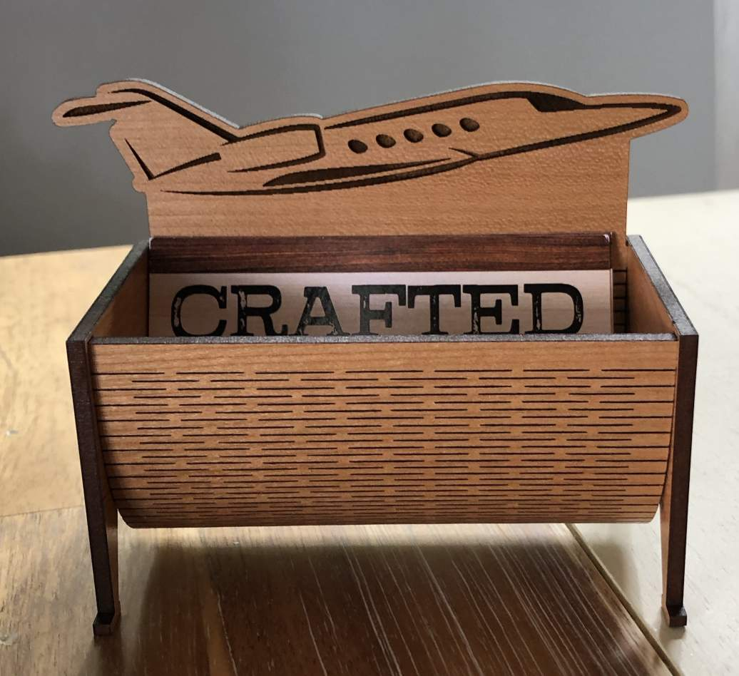 Business Card Holder with a Plane
