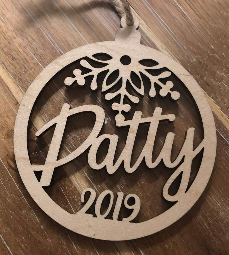 Custom Ornament for Patty