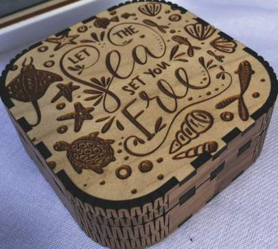 Customized boxes. For gifts and keepsakes